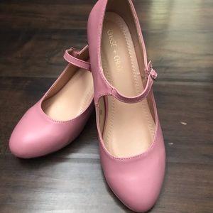 Retro Bubblegum pink Mary Janes Barely worn.